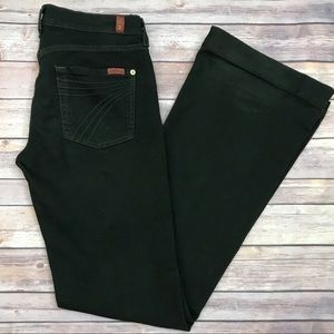 7 For All Mankind Dojo Wide Leg Jeans Green 28x34
